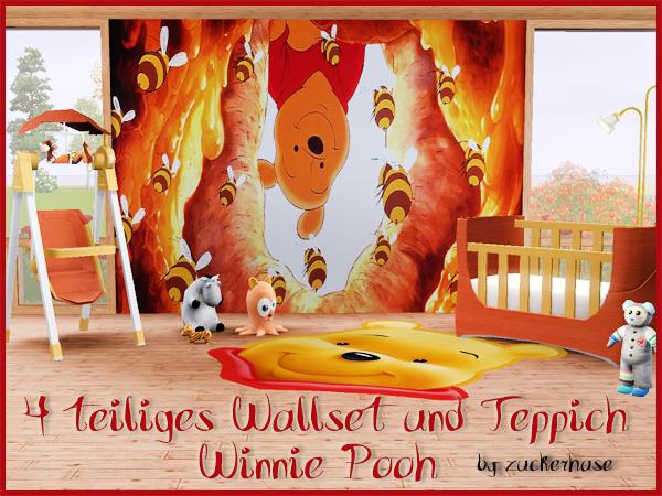 Winnie Pooh Wallset mit Teppich  Welcome to AKISIMA