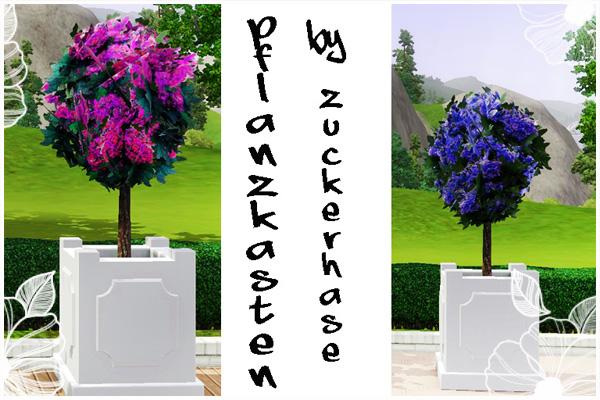 pflanzkastenset in blau und pink. Black Bedroom Furniture Sets. Home Design Ideas