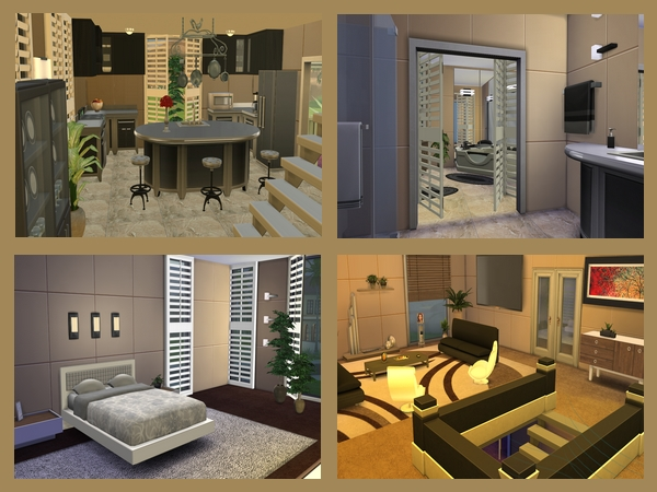 Die sims 4 familienvilla 1 welcome to akisima free downloads with - Sims 3 wohnzimmer modern ...