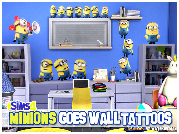 Minions goes walltattoos welcome to akisima free - Minions wandtattoo ...