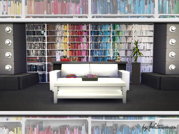 Lana Cc Finds Sims 4 Wallpaper Rainbow Books